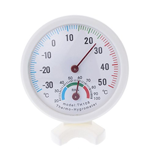 Tannhu Thermometer Hygrometer,Indoor Outdoor,Temperature&Humidity Monitor, Round,Small,Exquisite,Wireless,for,Humidifiers,Dehumidifiers,Greenhouse, Garden,Home,Office,Babyroom, Safe User-friendly - Friendly House