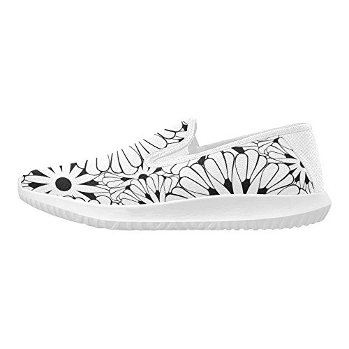 D-story Skor Fashion Slip-on Womens Kanfasgymnastikskor Solros