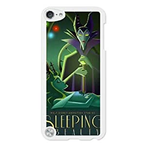 The best gift for Halloween and Christmas iPod 5 Case White Art Deco Style Disney Maleficent Sleeping Beauty WYW8595726