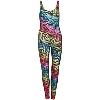 c15a4470375 Zebra Rainbow Unitard Jumpsuit Catsuit Top Playsuit Womens Animal Print  Tumblr Fashion Tumblr Festival