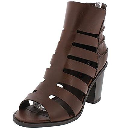 3525008d890 Amazon.com   Dark Brown Caged Peep Toe Chunky Heel SIZE 9   Everything Else