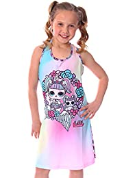 BLOMDE Girls Unicorn Nightgowns Cartoon Sleepwear Cotton Sleep Shirts for 3-12 Years