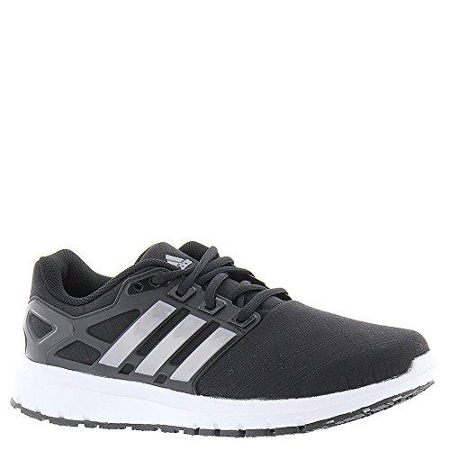 Adidas Performance Women's Energy Cloud w Running Shoe, Black/Tech Silver/Tech Silver, 8.5 Medium US