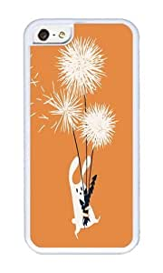 Apple Iphone 5C Case,WENJORS Awesome Bunny and Dandelion Bouquet Soft Case Protective Shell Cell Phone Cover For Apple Iphone 5C - TPU White
