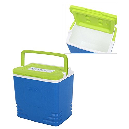 Cooler With Bail Handle, Blue Ice-Tank 28-Quart