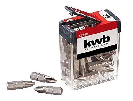 KWB PH2 Bits dispensador de caja - 25 Juego de Bits de Juego con ...