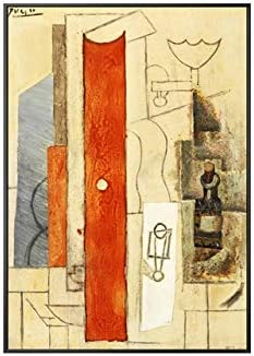 YTGDFB Picasso Mundialmente Famoso Guitarra Abstracta Lienzo Pintura Carteles E Impresiones Pared Arte Cuadros para Sala De Estar Dormitorio Decoración para El Hogar 80X120 Cm (Sin Marco) C Picasso