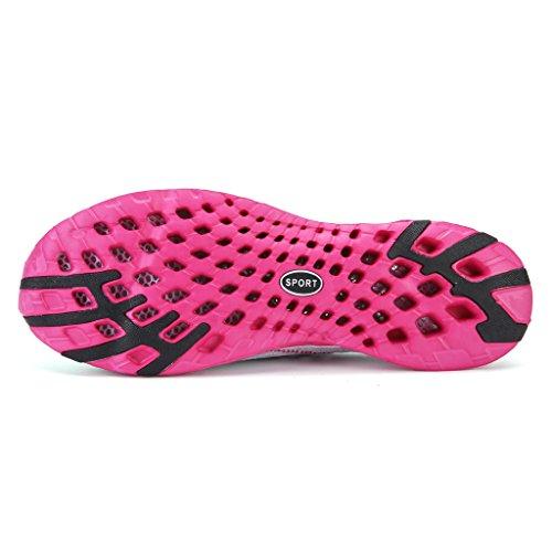 Pantofole Pelle Rosa Sport Nuoto Water Spiaggia Dogeek Da Sandali Giardini Acqua Uomo Shoes Nero Scarpe Acquatici Per fgwB7qa6wn