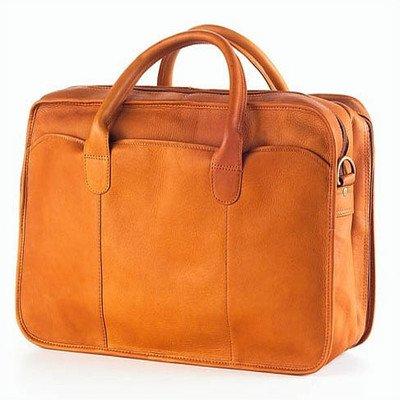 (Vachetta Classic Legal Leather Laptop Briefcase Color: Tan)