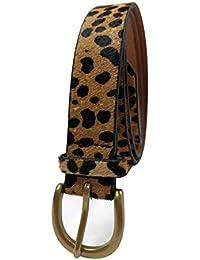 Leopard Print leather Belt Women's Waist Belt Ladies Haircalf Belt Casual Waistband