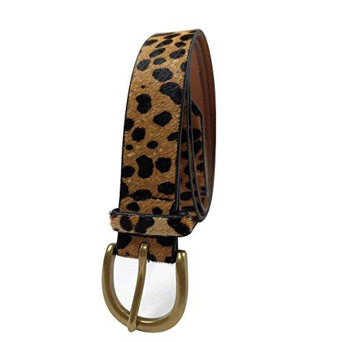 Leopard Print leather Belt Womens Waist Belt Ladies Haircalf Belt Casual Waistband