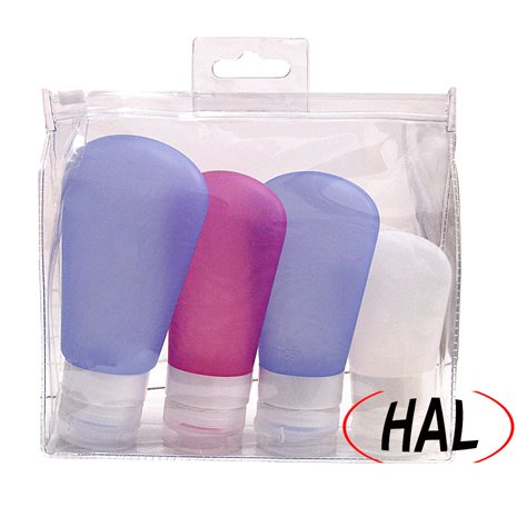 hal-4-pack-silicone-travel-bottles-shampoo-tubes-assorted-sizes-and-colors-toiletry-bottle-leak-proo