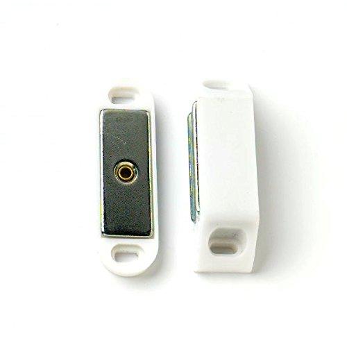 Bulk Hardware BH00394 Paquet de 2 Loqueteaux à aimant robuste traction 4 kg Blanc Bulk Hardware TM
