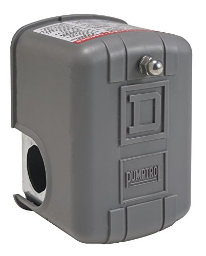 Square D by Schneider Electric 9013FSG52J25 Air-Pump Pressure Switch, Nema 1, 60-80 Psi Pressure Setting, 25-80 Psi Cut-Out, 20-30 Psi Adjustable Differential