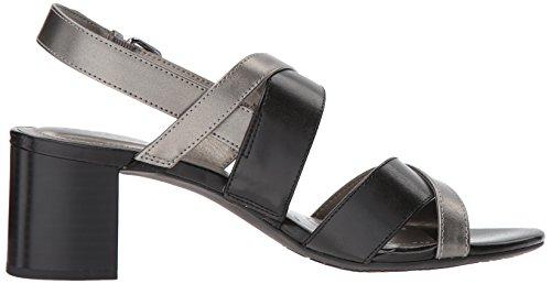 de bronce negro Stepa tacón para Sandalia mujer Bandolino T6AAw