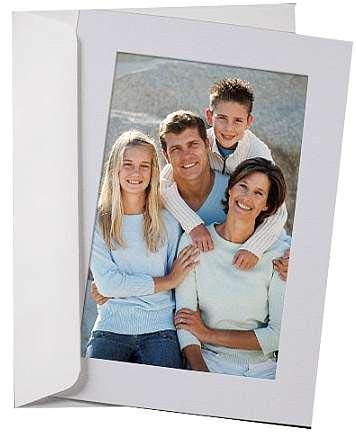 SIMPLICITY PALE-BLUE Photo Insert Card sold in 10s - 4x6
