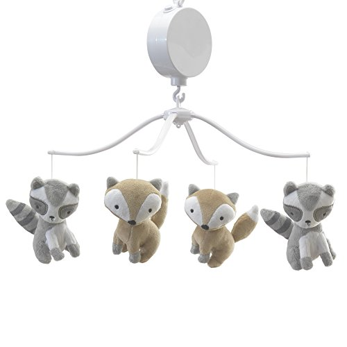(Bedtime Originals Little Rascals Forest Animals Musical Mobile, Gray/White)
