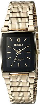 Armitron Men's 201576 Gold-Tone Black Dial Dress Watch