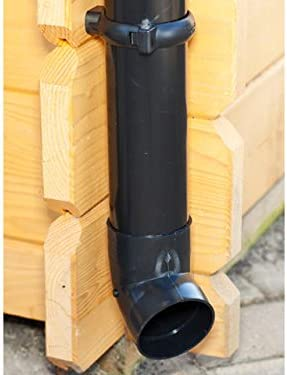 1 Dachseite Komplettes Set bis 8.75 m, Braun wei/ß in anthrazit Dachrinnen//Regenrinnen Set braun oder schwarz! | Extra100 Pultdach