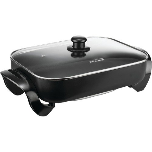 Brentwood Electric Skillet With Glass Lid (16''; 144;400w);