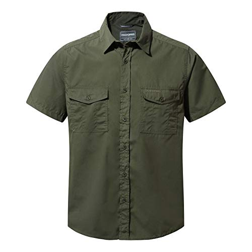 Craghoppers Men's Kiwi Short Sleeve Shirt, Cedar, Large from Craghoppers