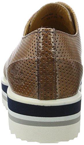 Melvin&Hamilton Noemi 1 - Zapatos Derby Mujer Braun (Venice Perfo cappuccino Eva Multi)