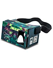 Google Cardboard POP! Cardboard + Free Head Strap and Cushion. for Android and iPhone up to 6 inches. Including Lenses. 3D Glasses VR Glasses Virtual Reality Viewer VR Goggles.