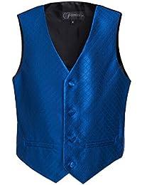 Boys Premium Vest Hankie Necktie Bow Tie Set