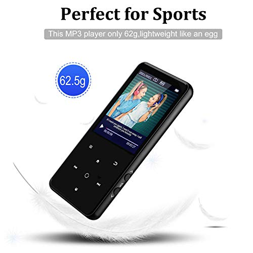 MP3 Player,PELDA Bluetooth MP3 Player,16GB MP3 Player with 2.4'' Large Screen, HiFi Lossless Music Player with Speaker,Touch Buttons,FM Radio/Recorder,16GB Come with a Wired Headphone by Pelda (Image #5)
