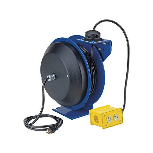 (Coxreels PC Series Power Cord Reel with Quad Receptacle - 50ft., Model# PC13-5012-B)