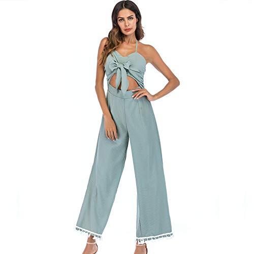 JKJHAH Traje De Cabestrillo Cazadora Mujer Pantalones Picture color