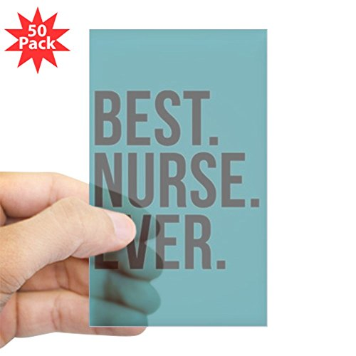 CafePress - Best Nurse Ever - Sticker (Rectangle 50 pk) by CafePress