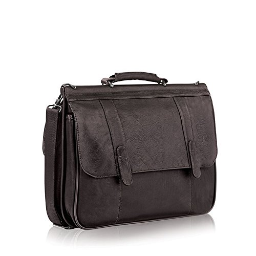 030918003312 - Solo Warren 16 Inch Leather Laptop Briefcase, Espresso carousel main 4