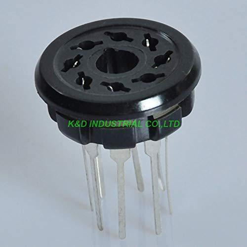 Jammas 4pcs Bakelite Tube Socket K8A PCB 8pin EL34 6SN7 KT88 6L6 5Z3P 5U4G 6CA7 5Y3GT Tube Amplifier Parts - (Standard: Female, Color: Black)