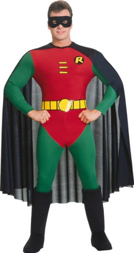 [Deluxe Robin Costume - Large - Chest Size 46] (Batman And Robin Movie Costumes)