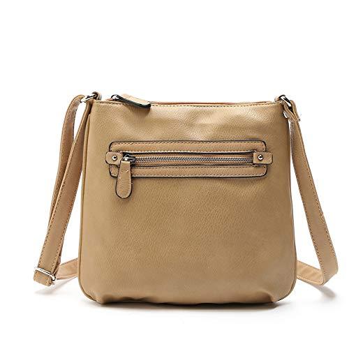 Women's Leather Shoulder Bags Splice Corssbody Bag Handbag Fashion Vintage Tassel Big Capacity Tote Shoulder Bags (One_Size, Green)