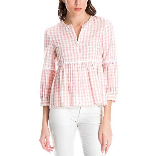 Plaid Empire Top - Max Studio London Womens Plaid Empire-Waist Pullover Top Pink M