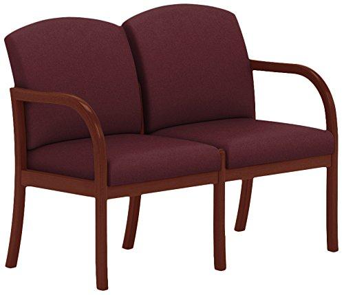 Lesro Weston 2 Seat Sofa in Mahogany Finish, Core Vital