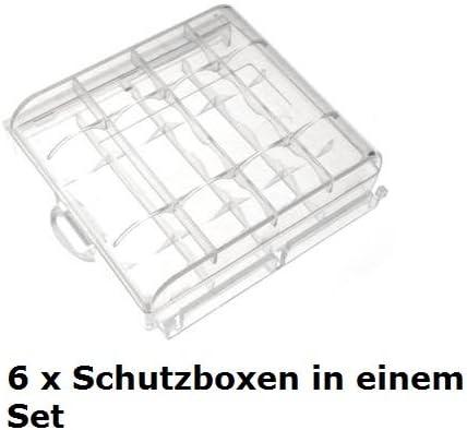 Enerdan AA-6 - Caja para pilas, transparente: Amazon.es: Electrónica