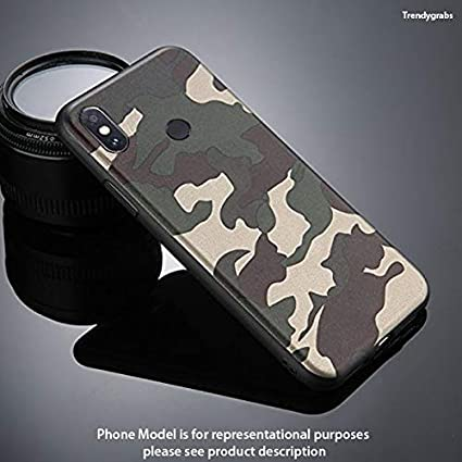 meet 3e2a2 d9f8f Trendygrabs® Military Back Cover Camouflage TPU Soft Rubber Army Case Back  Cover for Redmi Mi Note 5 pro