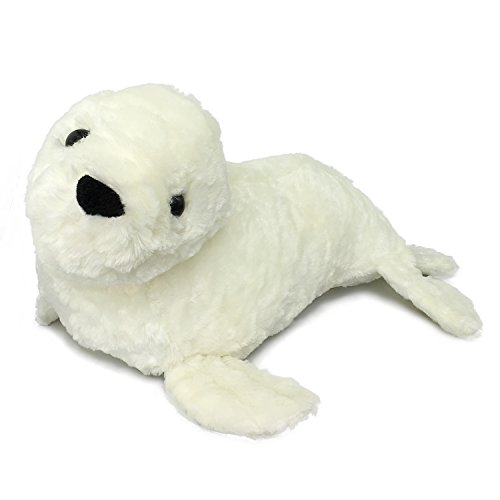 (Ice King Bear Large Off-White Baby Seal - Stuffed Animal Plush Toy - 20 Inch Length)