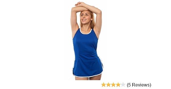 221f87a3ca T.H.E. Swimwear Tuffy Swimdress size 12 Royal at Amazon Women's Clothing  store: