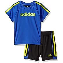 adidas Baby Boys' Sleeve Tee and Short Set