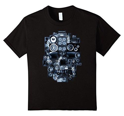Kids Unique Music Speaker Stack Subs Bass Skull T Shirt 1...