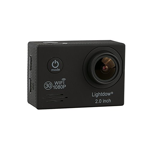 Lightdow-LD6000-WiFi-1080P-HD-Sports-Action-Camera-Bundle-with-DSPNovatek-NT96655-Chip-20-Inch-LTPS-LCD-170-Wide-Angle-Lens-and-Bonus-Battery