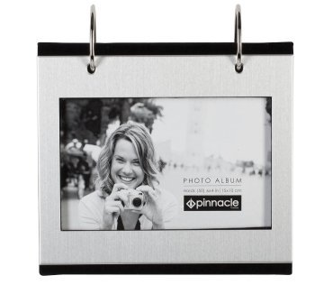 Photo Frames 74100 Silver Colour Free Standing Flip Album - Holds 50 of 6 x 4 inch Photos ()