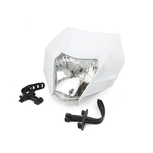 Universal Headlight Head Lamp Light Fairing Street Fighter Mask Day Running Light Turn Signal Lights For Honda Yamaha Suzuki Kawasaki KTM - White