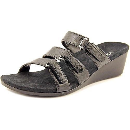 b79720cee90d Vionic with Orthaheel Technology Womens Dwyn Slide Wedge Sandal Black  Lizard Size 9