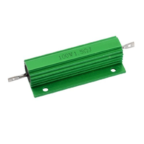 Uxcell a12050500ux0056 Aluminum Housing 100W 1.5 Ohm Wirewound Power Resistor