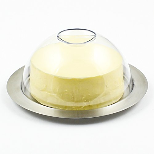 - Zoie + Chloe Stainless Steel Round Butter Dish with Easy to Hold Lid